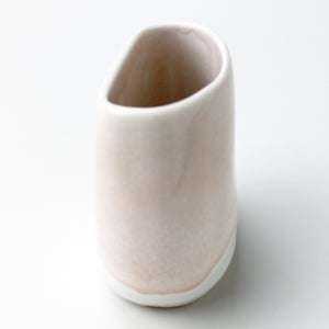 Image of pebble vase, blush watercolor