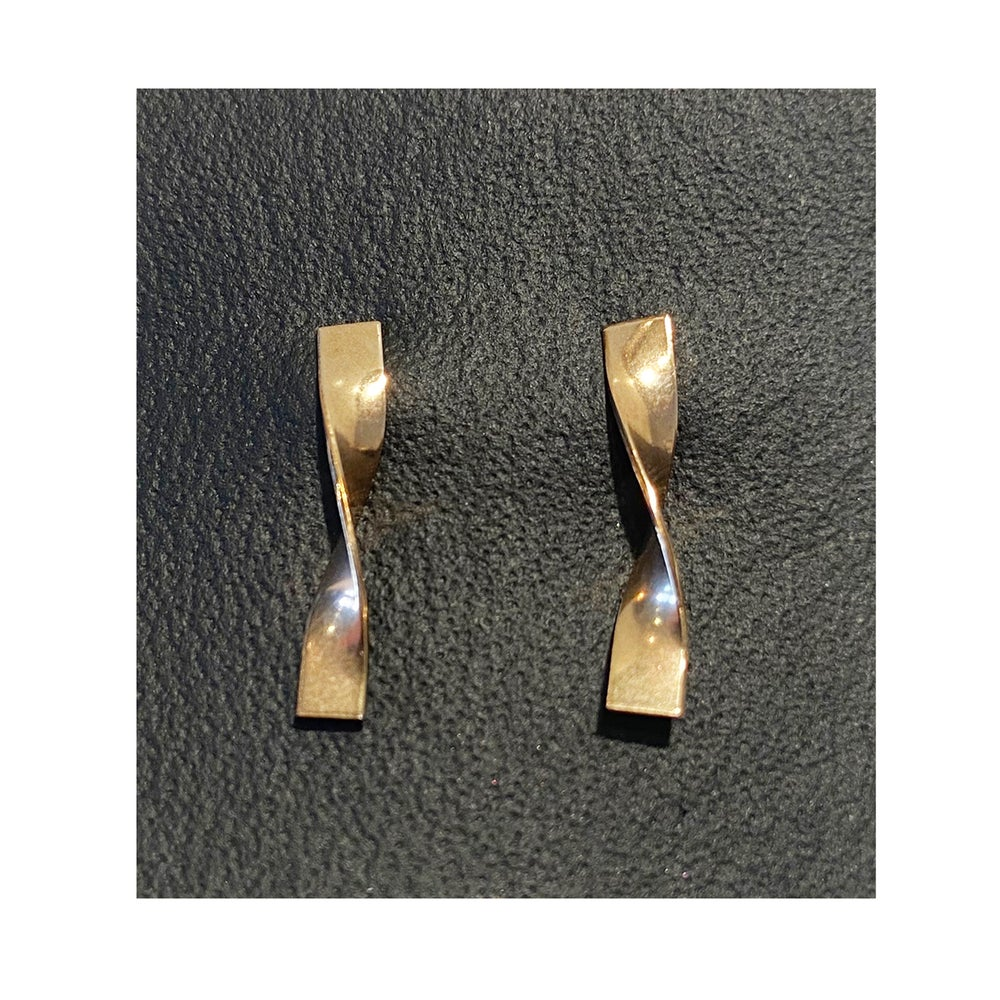 Image of  Gold Filled Charm Twist Studs