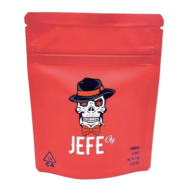 Image of Jefe OG Cookies Bags Empty 3.5-7g Size Smell Proof Mylar Bags