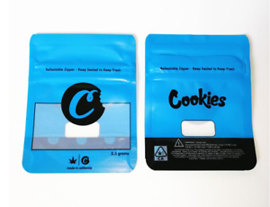 Image of Cookies Bags Empty 3.5 Size Smell Proof Mylar Bags