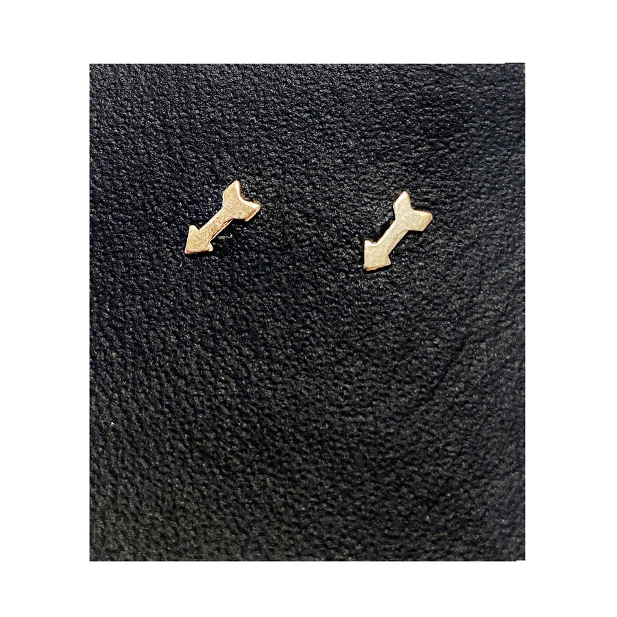 Image of Gold Filled Charm Arrow Studs