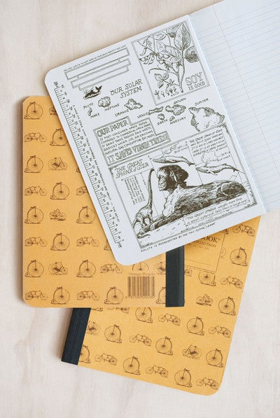 Vintage Bicycles Decomposition Brand Notebook