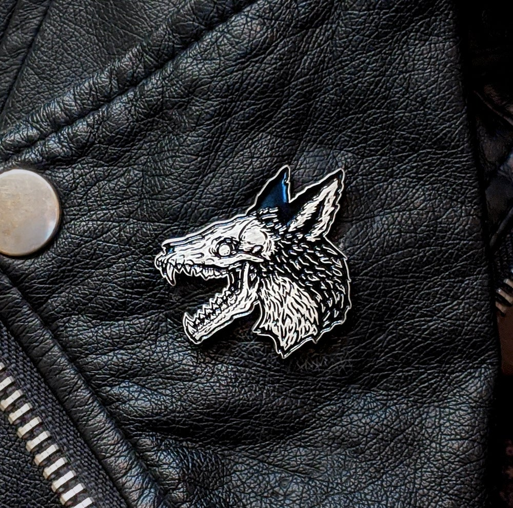 Image of The Plague Fox Enamel Pin (Silver or Copper)