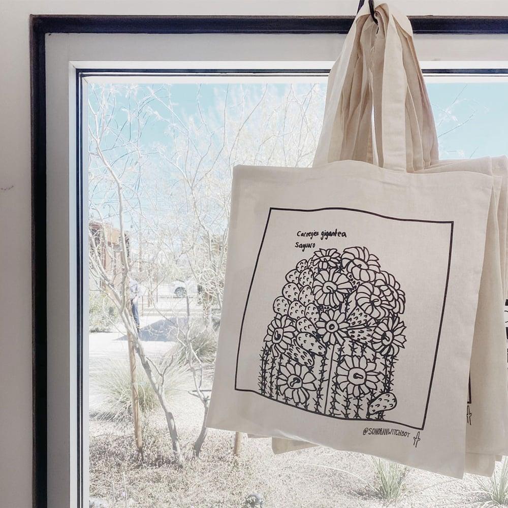 """Sonoran Witch Boy"" - Saguaro Tote Bag"