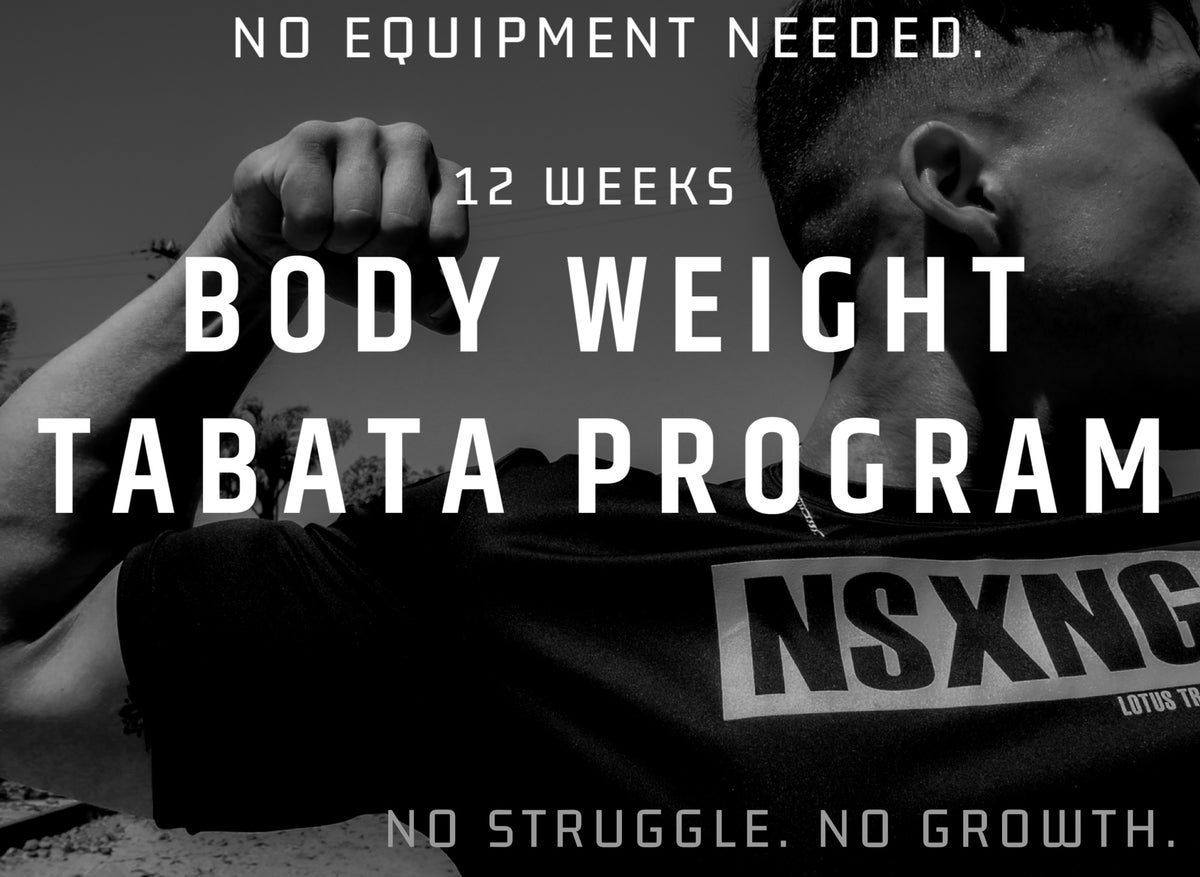 BODY WEIGHT TABATA PROGRAM