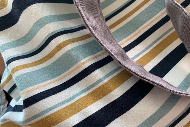 Image of Annette bag berlingot stripes