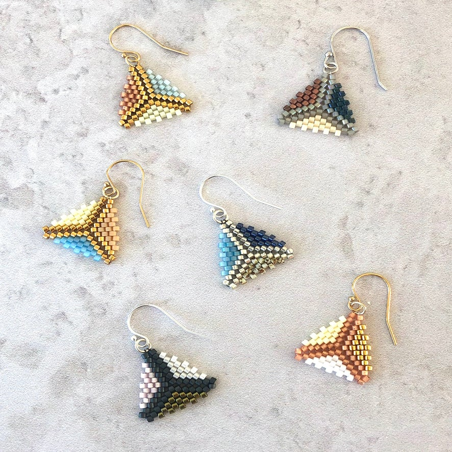 Image of Kamille Peyote Stitch Earrings