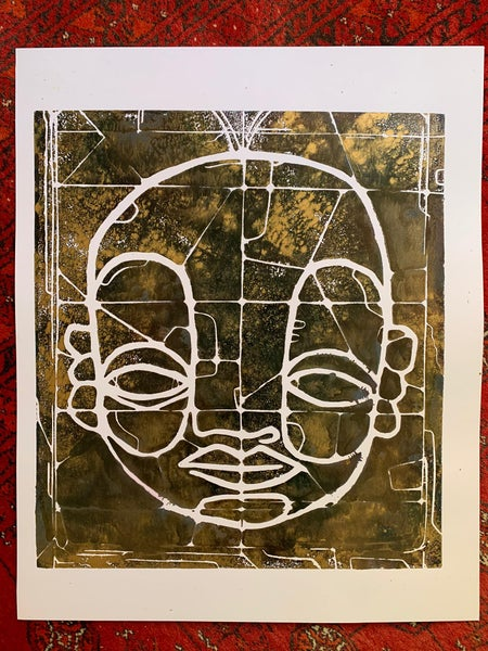 """Image of """"CyFace Stainglass"""" #1"""