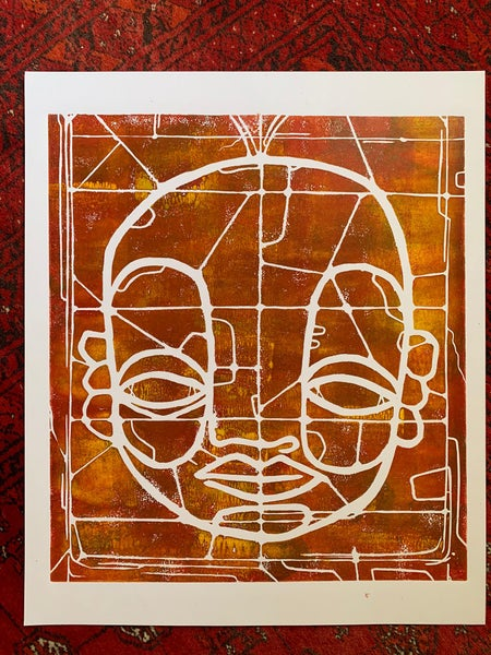 """Image of """"CyFace Stainglass""""#2"""