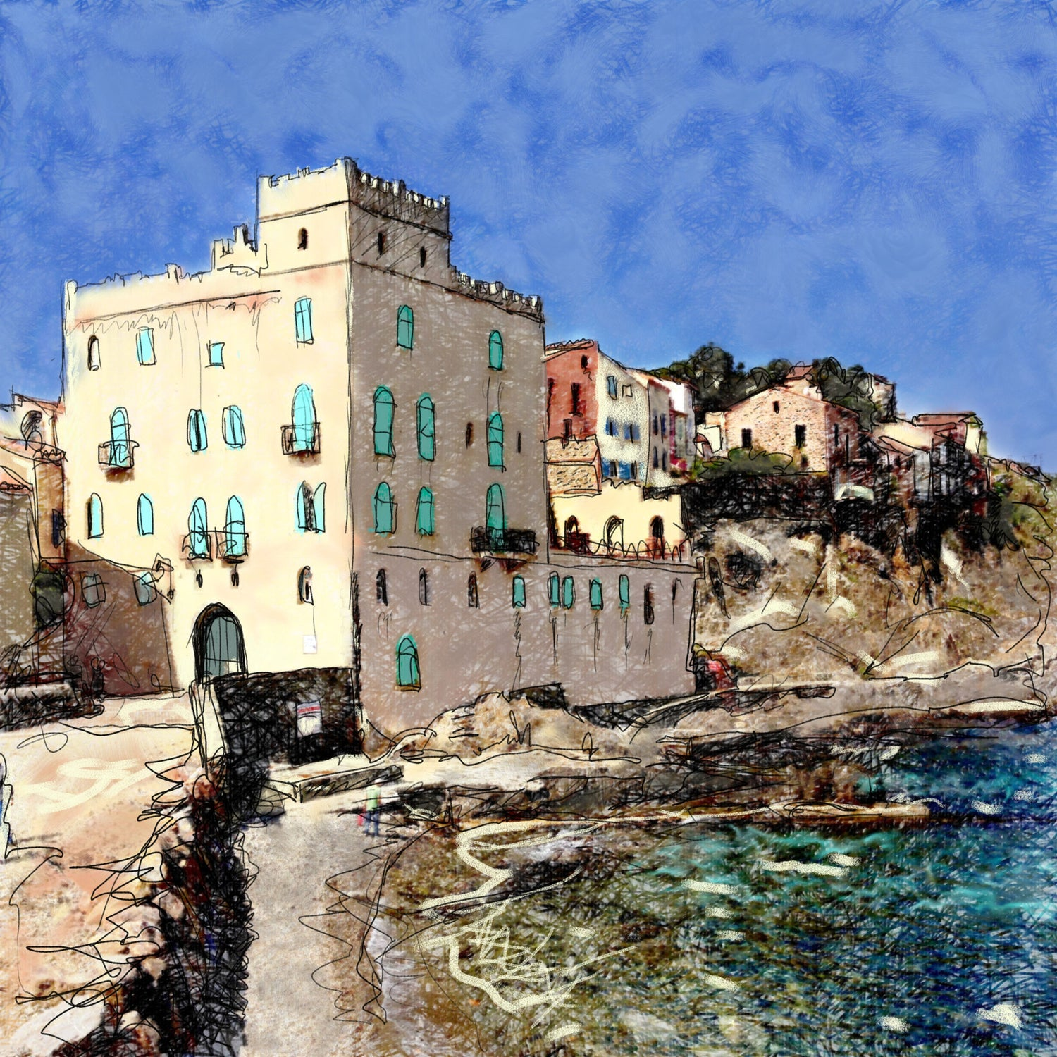 Image of Collioure Seafront 1