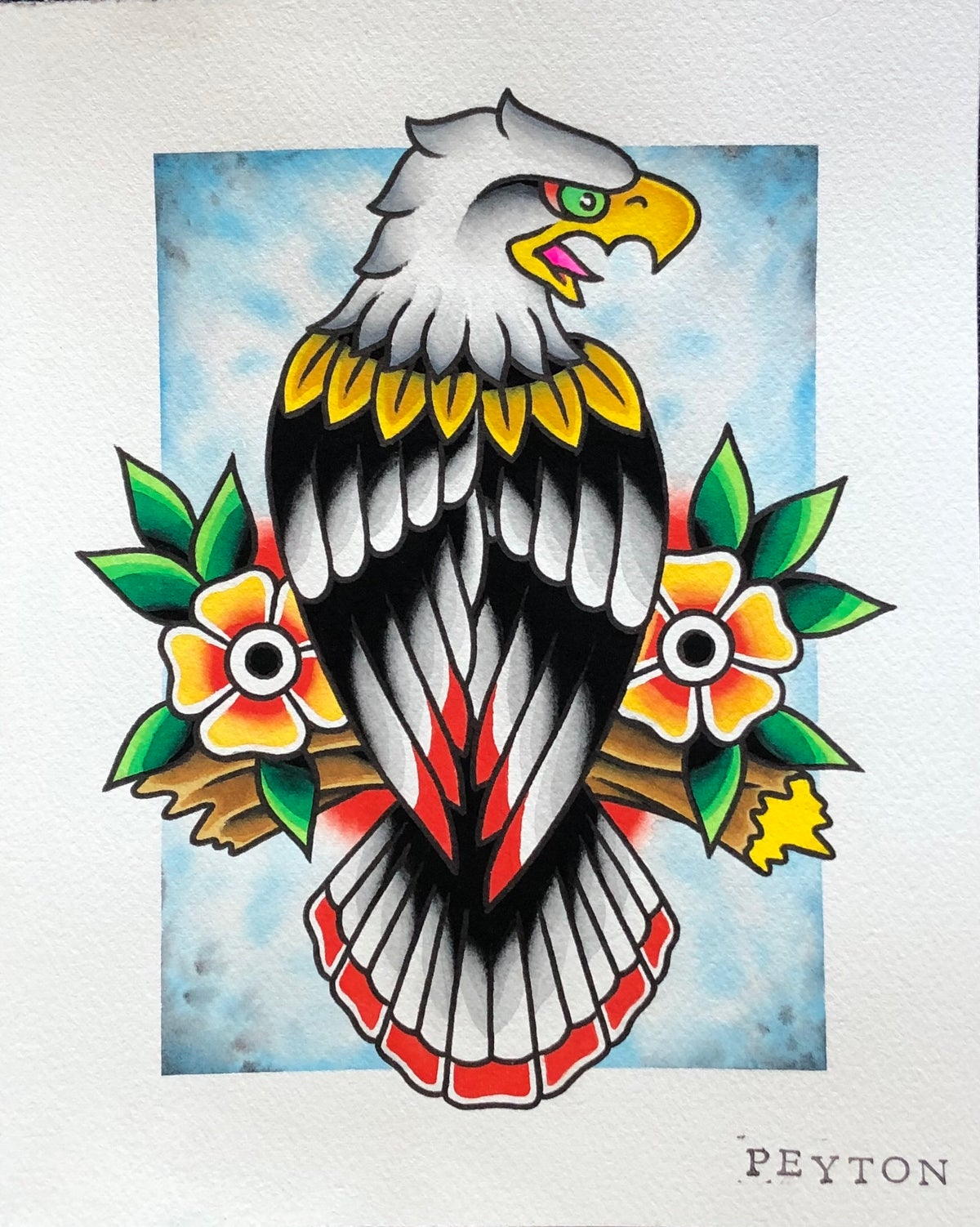 """Eagle painting 8x10"""""""