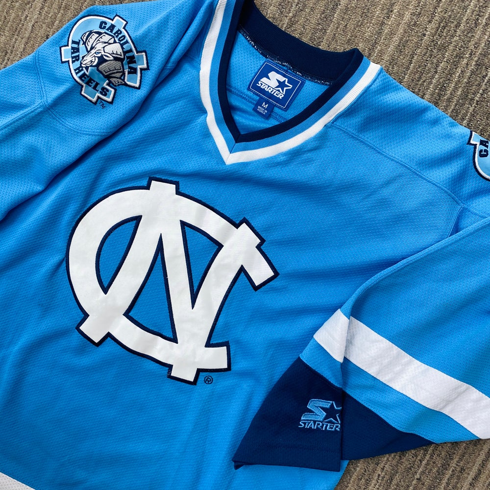 Image of Vintage North Carolina Tar Heels Starter Jersey