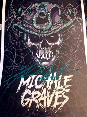 """Image of 18X12 Michale Graves """"SCARECROW HEAD""""  PRINT SIGNED"""