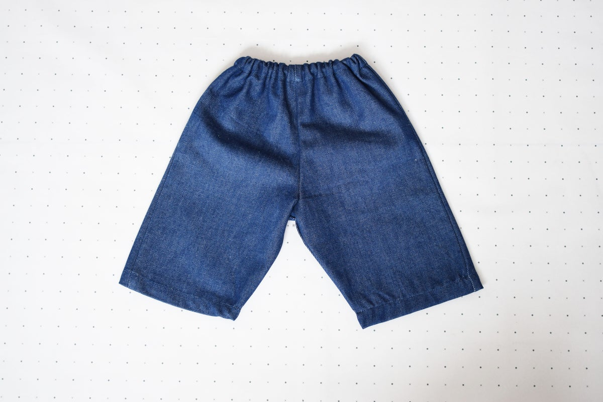 Image of Denim Crop Baggies