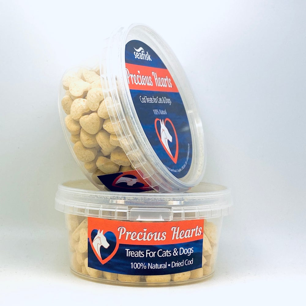 FOR PETS - PRECIOUS HEARTS®  12x80g - Dried Cod for Cats & Dogs