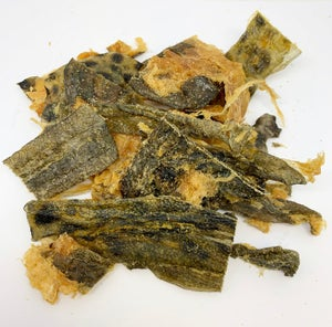 FISH SKIN TREATS 12x200g - Dried Atlantic Catfish Skins for Dogs