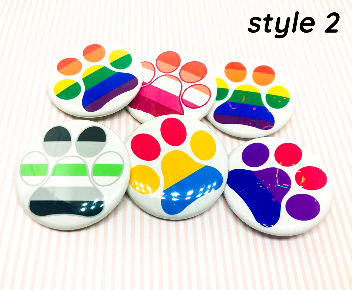 Image of Furry Pride Buttons