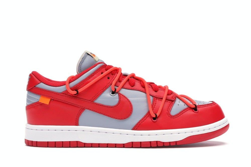Image of Nike Dunk Low Off White University Red