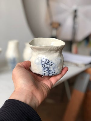 Image of Porcelain Vase - Bobby in Blue
