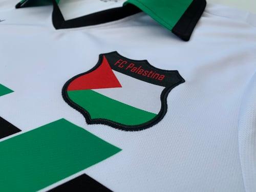 Image of Palestine white (Italian) retro football shirt