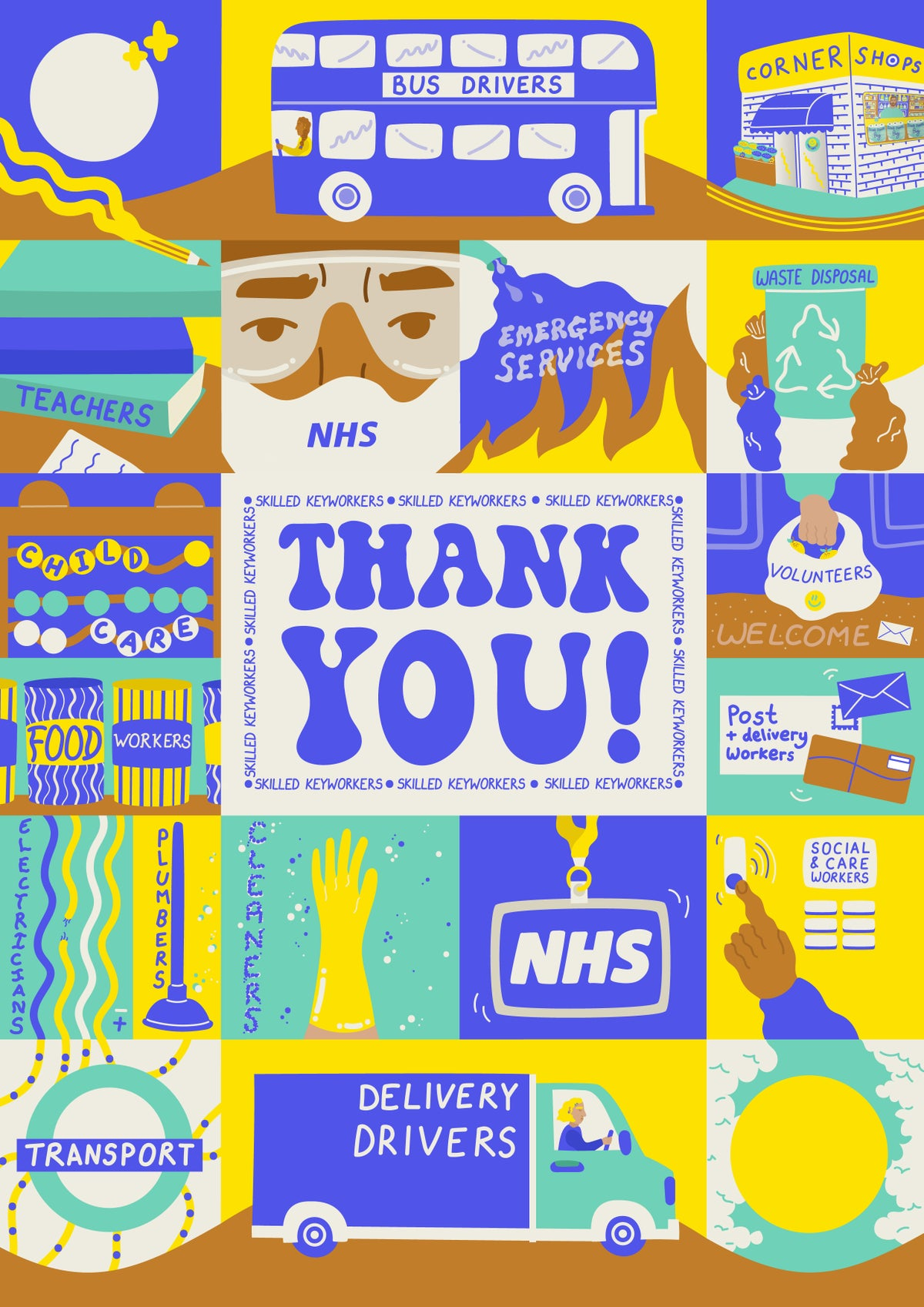 Image of 'THANK YOU!' POSTER PRINT