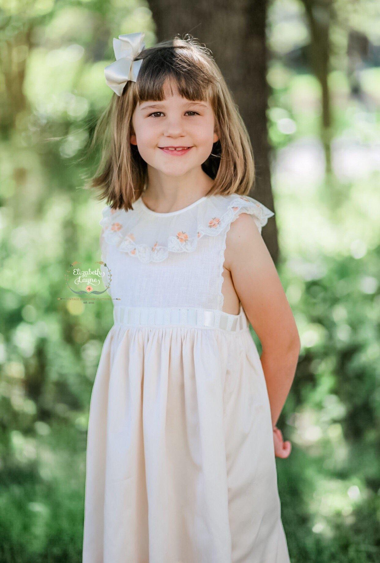 Image of Lara Vintage Netting Primrose Dress & Sunsuit