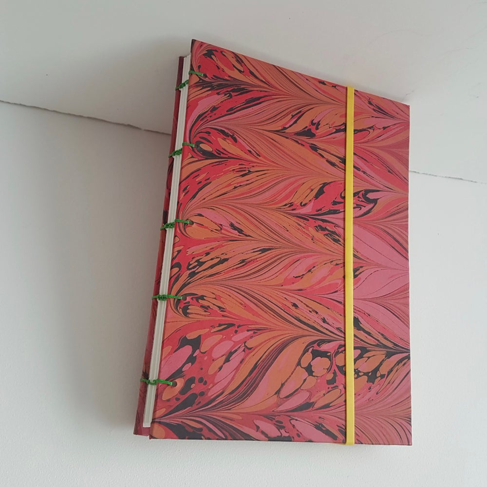 Image of Red Coptic Bound Sketchbook