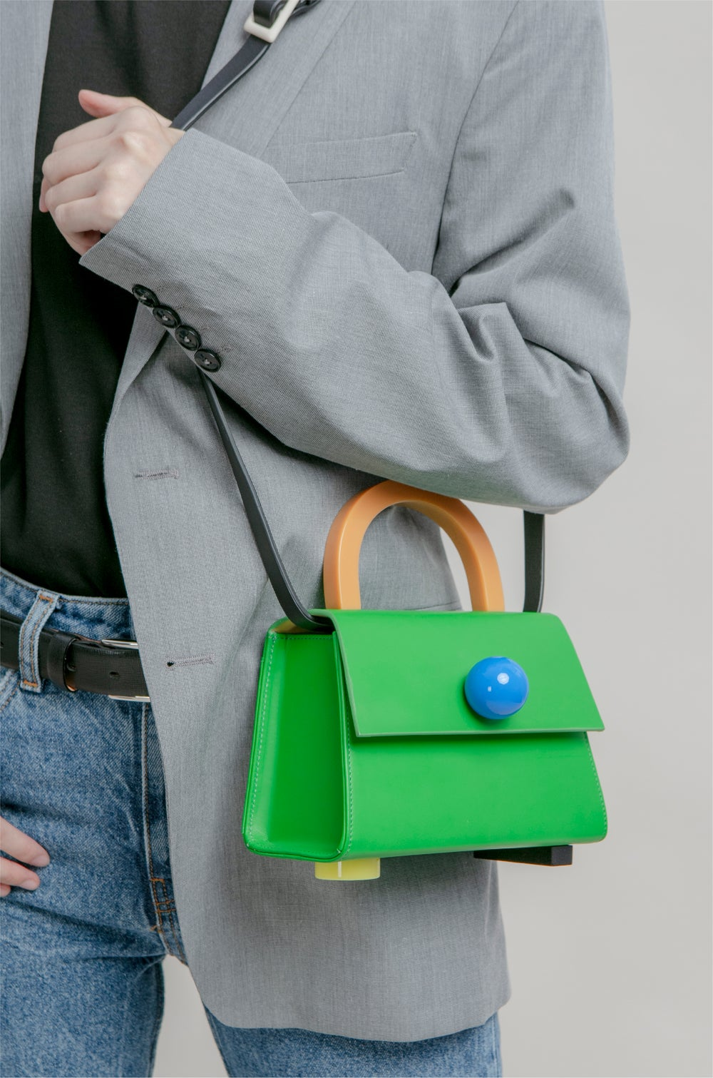 Diva satchel bag • Kelly Green with strap - Limited quantities