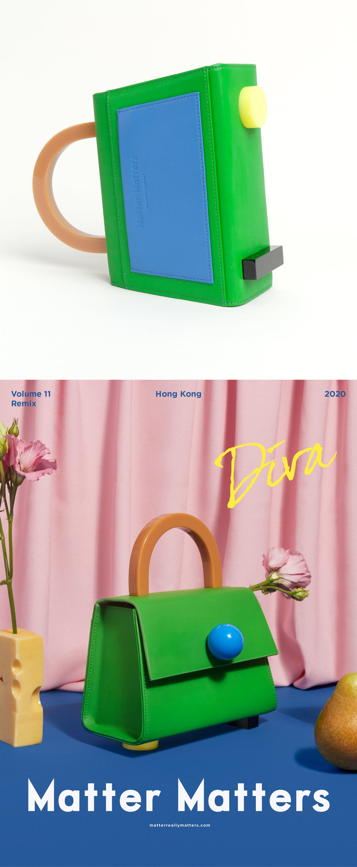 Image of Diva satchel bag • Kelly Green with strap - Limited quantities