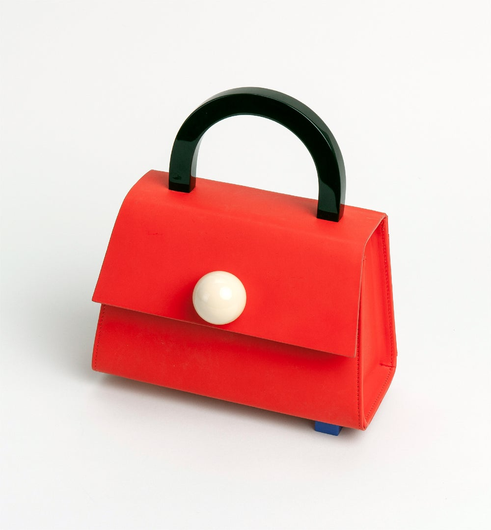 Diva satchel bag • Bright Red with strap