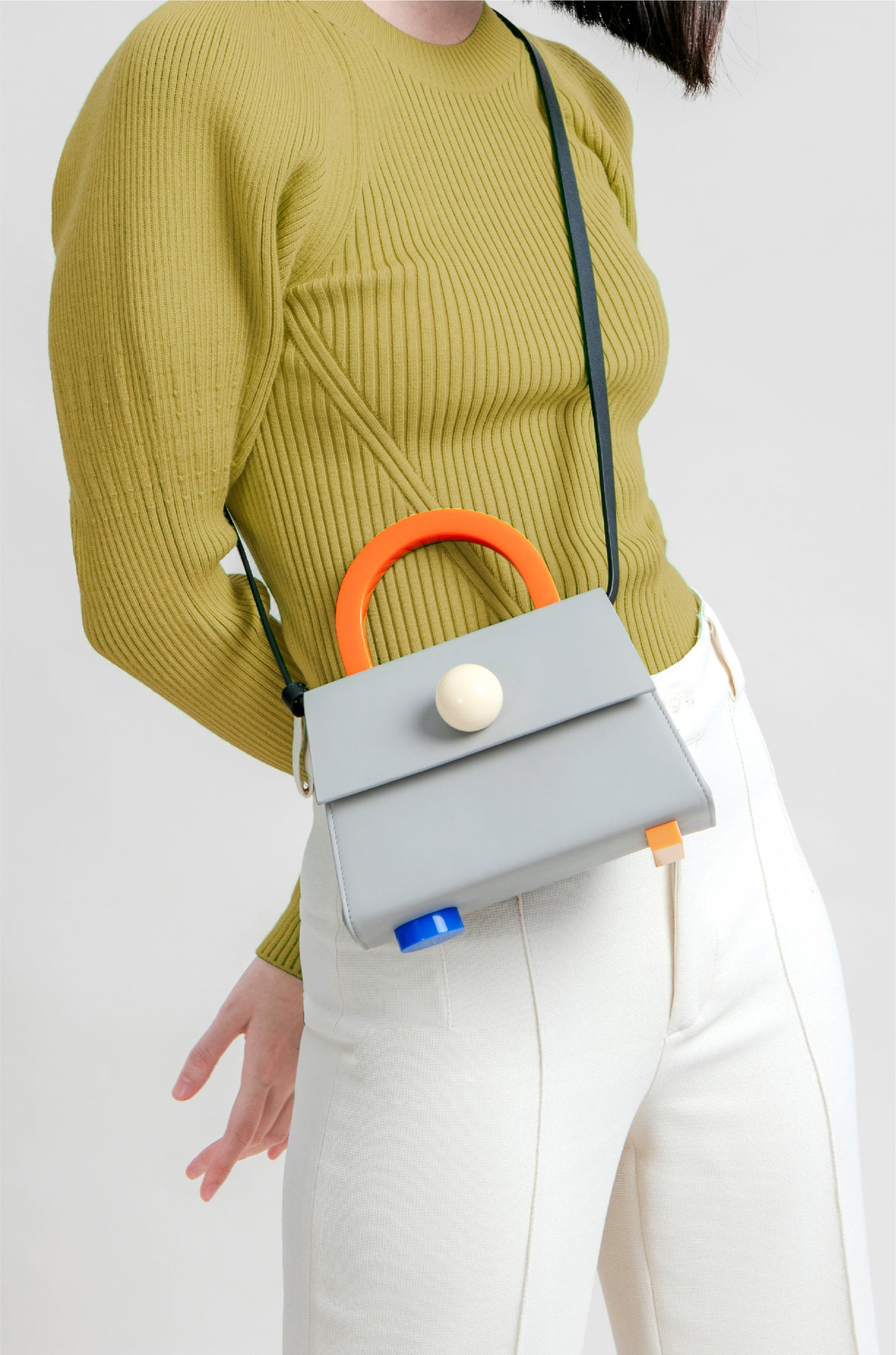 Image of Diva satchel bag • Grey with strap - Limited quantities