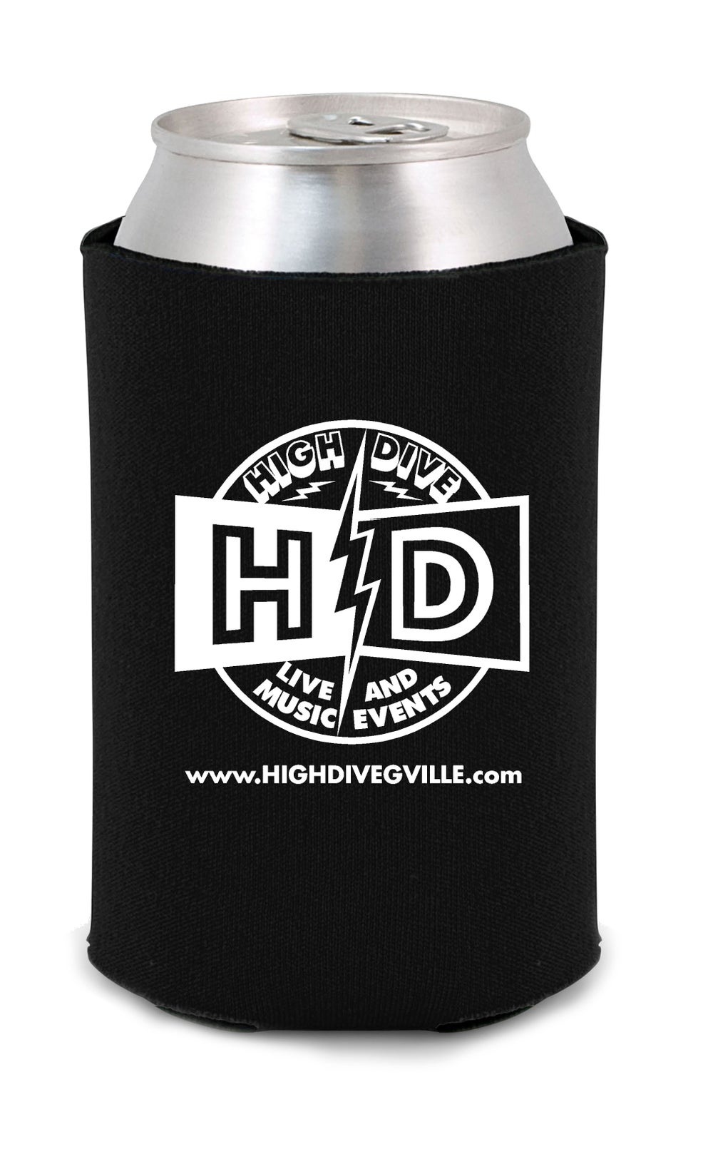 High Dive Logo Coozie