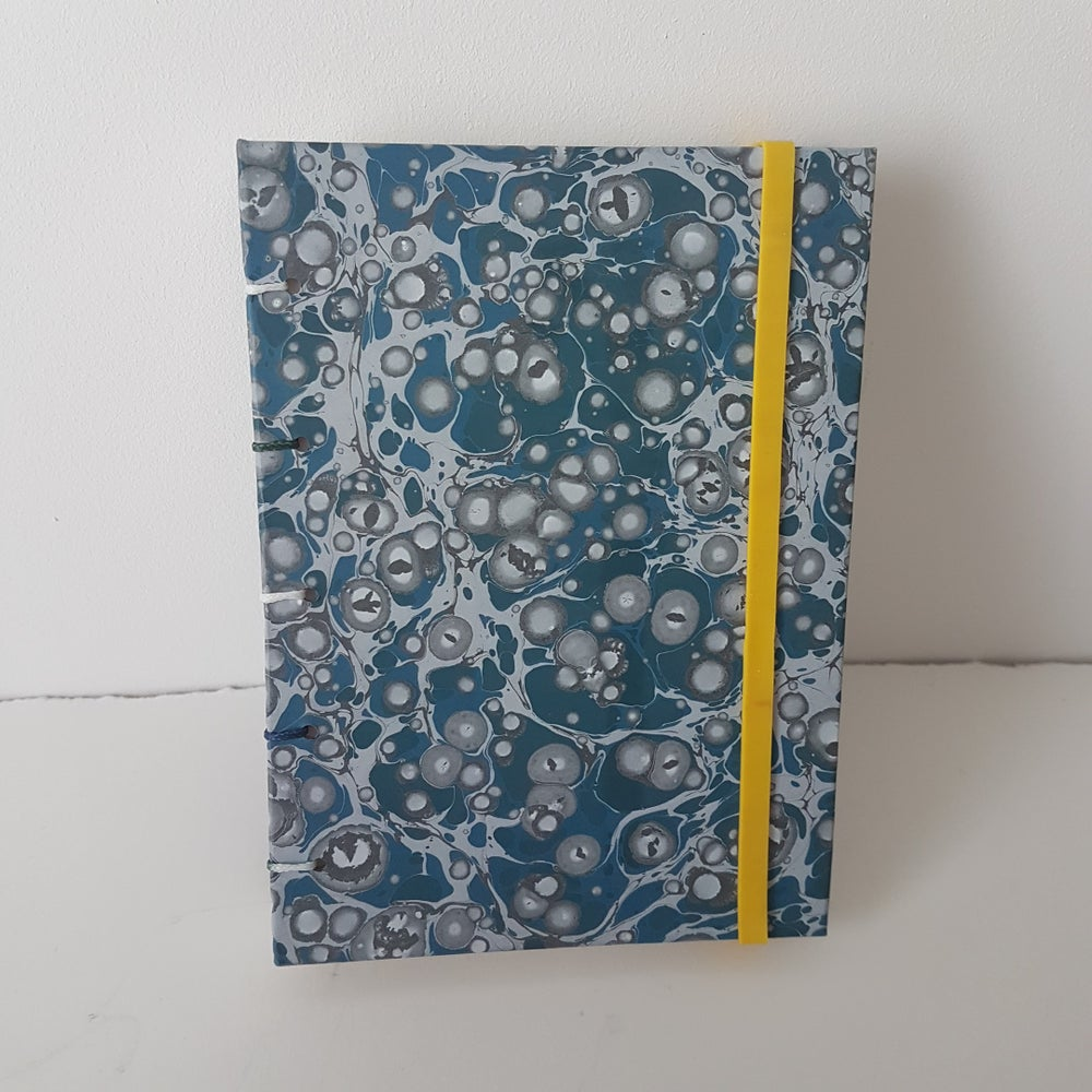 Image of Blue Grey Coptic Bound sketchbook