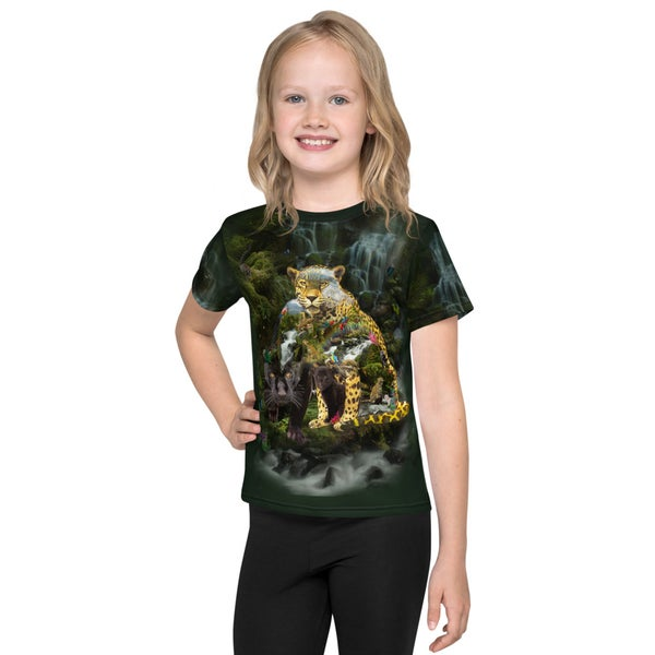 Image of Jaguar Art Animal Lovers  Kids T-Shirt