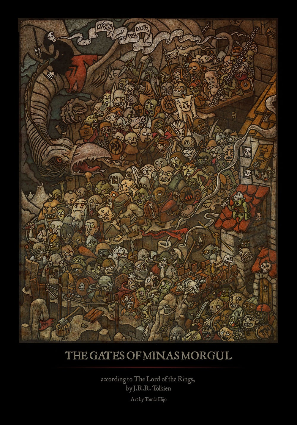 Image of The gates of Minas Morgul (poster)