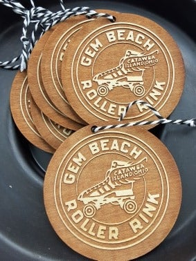"Image of ""Gem Beach Roller Rink"" Ornament"