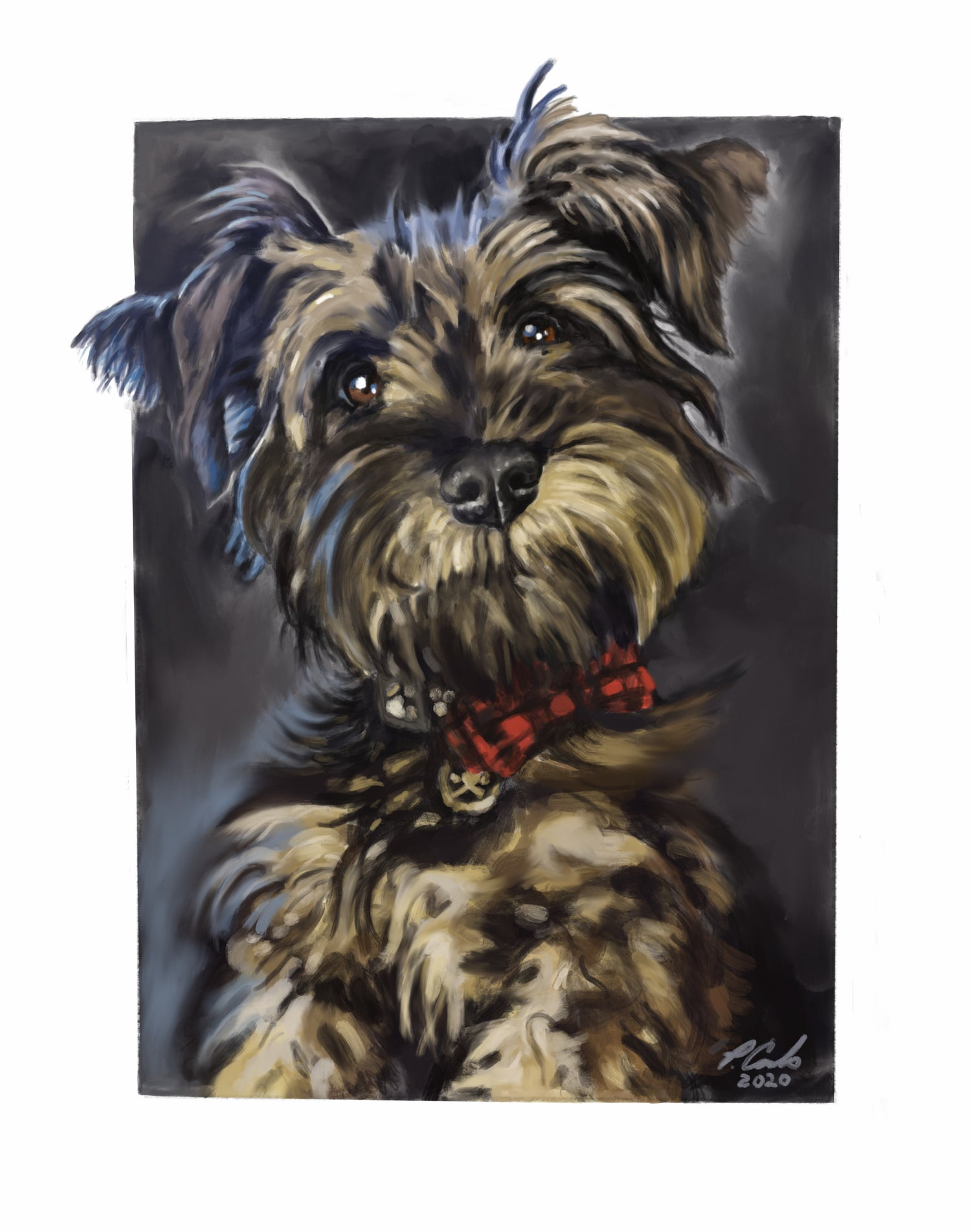 Image of Custom digital Pet Portraits by Patrick Cornolo