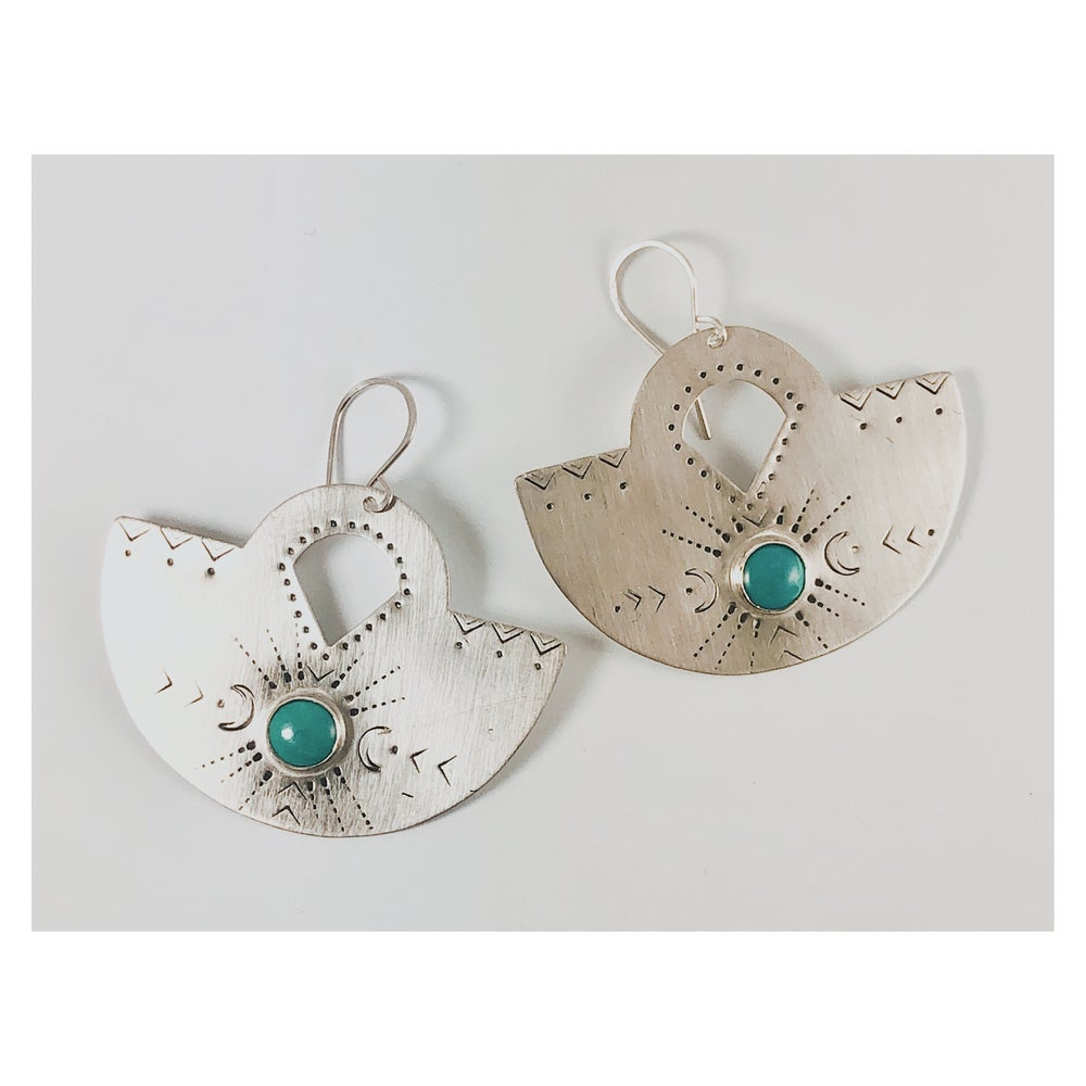 Image of Sterling + Turquoise Fans