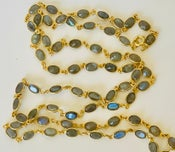 Image of Labradorite set in gold over silver