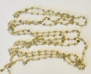 "Image of 54"" chain of labradorite beads"