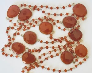 "Image of 47"" Carnelian necklace"