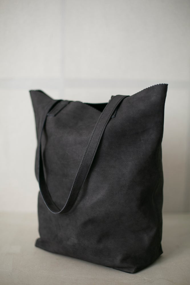 Image of BLACK SUEDE TOTE BAG by O.T.P. / Geert Salden
