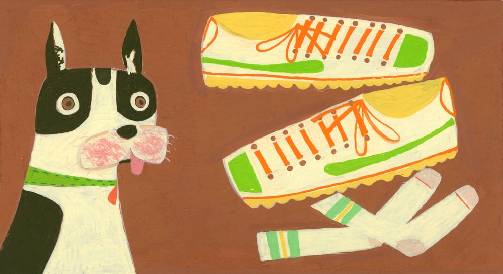 Image of Boston Charlie, sock bandit. Limited edition print.