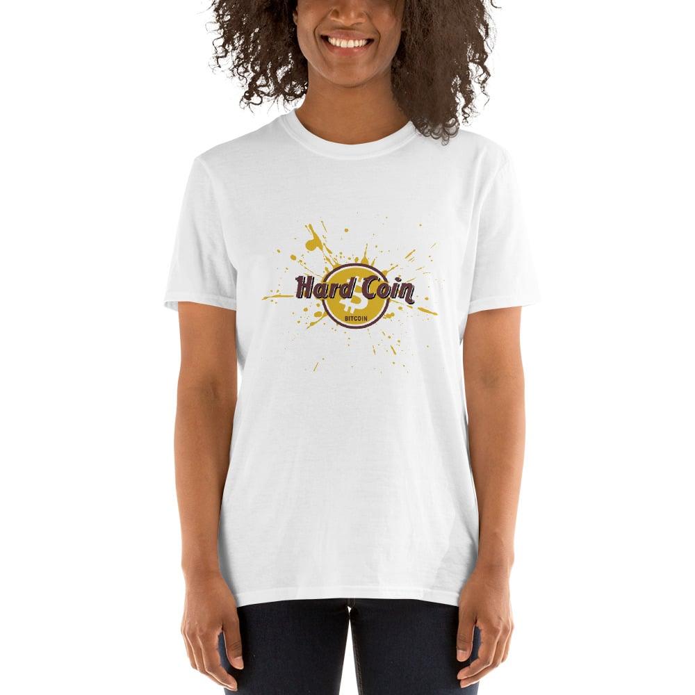 Image of Bitcoin Shirt Short-Sleeve Inspired by Hard Rock Bitcoin Funny Unisex T-Shirt