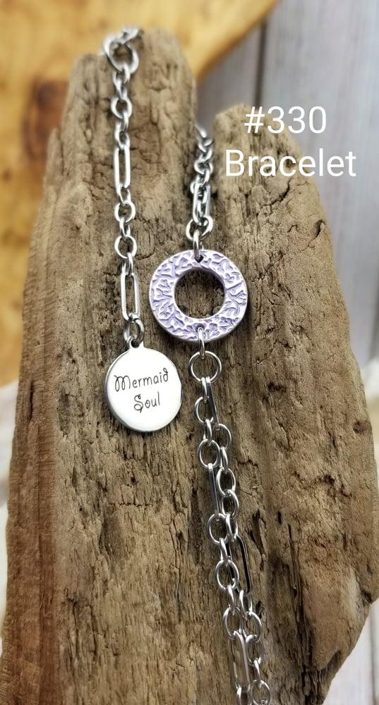 Image of Handmade Fine Silver Link- Bracelet- Mermaid Soul- #330