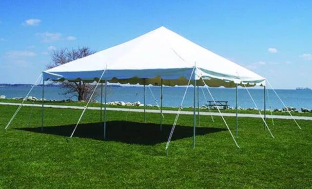 20 × 20 heavy duty pipe tent