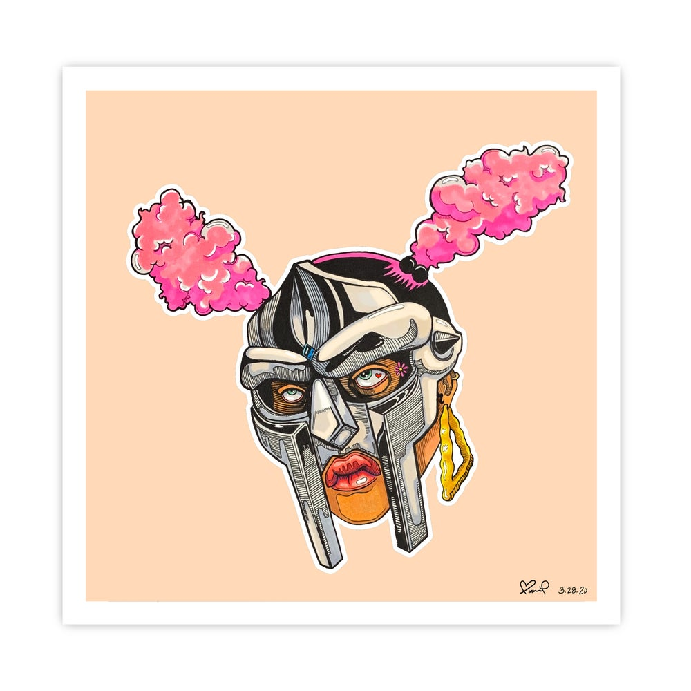 "Image of ""MASK ON MS DOOM"" by Bianca Pastel - Limited Edition Fine Art Print"