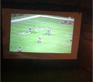 Blow Up Projector Screen