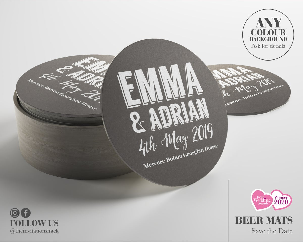 Beer Mat Save the Dates