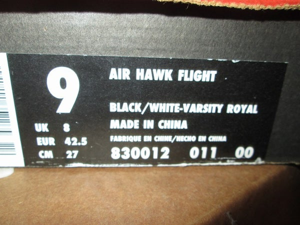"Air Hawk Flight ""Black/Varsity Royal"" 1997 *PRE-OWNED* - FAMPRICE.COM by 23PENNY"